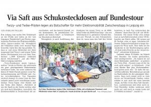 Via Saft aus Schukosteckdosen auf Bundestour, LVZ Stadt 11.08.2014, Seite 14-001